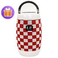 ➨Беспроводная колонка LZ M128 Red + White портативная с блютуз для поездок музыкальная