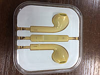 Гарнитура Apple EarPods with 3.5 mm Headphone Plug (MD827) (HC, no box, gold)