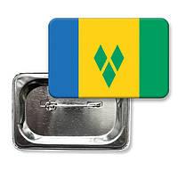 "Значок ""Флаг Сент-Винсента и Гренадин"""