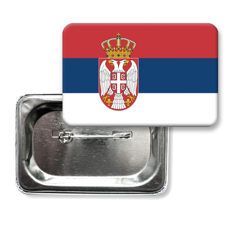 """Значок """"Прапор Сербії"""""""