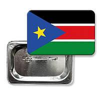 """Значок """"Прапор Південний Судан"""""""