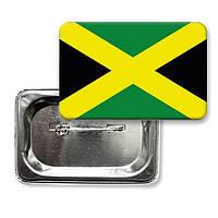 "Значок закатной ""Флаг Ямайки"""