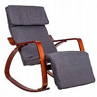 Кресло качалка GoodHome 02 Walnut, 120кг