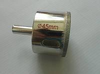 Сверло трубчатое алмазное по стеклу ТОМАХ Тайвань D 45 мм