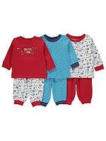 Набор детских разноцветных пижам из 6-и вещей Джордж для мальчика