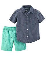 Детский летний костюм - шорты и тениска Картерс для мальчика