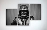 Картина модульная на холсте Звездные войны Star Wars Дарт Вейдер Darth Vader 90х60 из 3х частей
