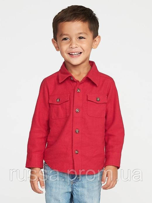 Красная фланелевая рубашка Олд Неви для мальчика