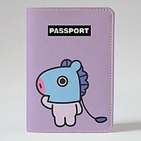 Обложка на паспорт v.1.0. Fisher Gifts 1005 BT21 MANG (эко-кожа)