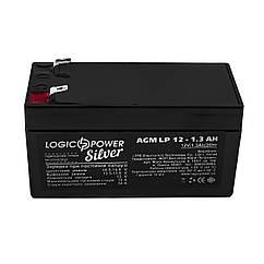 Аккумуляторная батарея LogicPower LP 12V 1.3AH AGM для детского электро транспорта