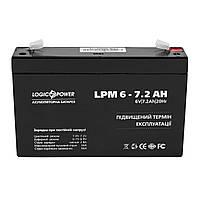 Аккумуляторная батарея LogicPower LPM 6V 7.2AH (LPM 6 - 7.2 AH) AGM