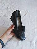 Широкі туфельки на танкетці, фото 3