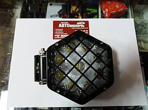 Фара дополнительная шестиугольная 10-30V 27W 9 диодов
