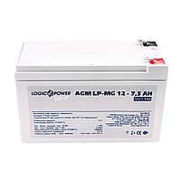 Аккумуляторная батарея LogicPower LP-MG 12V 7.5AH Silver (LP-MG 12 - 7.5 AH Silver) AGM мультигель