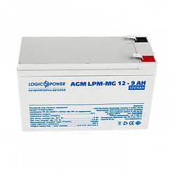 Аккумуляторная батарея LogicPower 12V 9AH (LPM-MG 12 - 9 AH) AGM мультигель для детского электро транспорта