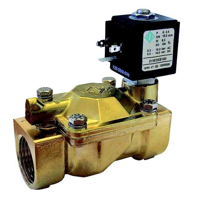 Электромагнитный клапан для пара до 140°C компании ODE (Италия), купить