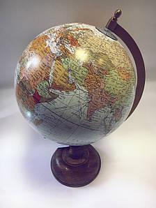 Глобус настольный на деревянной ножке