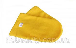 Варежки махровый-флис (пара) для парафинотерапии Варежки для парафинотерапии, РИО, Желтый