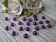 """""""Крапелька роси"""" клейовий декор, 8 мм, колір фіолетовий, ціна 12 грн - 50 шт"""