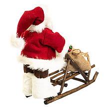 Фигурка новогодняя Санта с санями 34х30 см Uniсorn Studio 500033NC статуэтка Дед Мороз фигура, фото 2