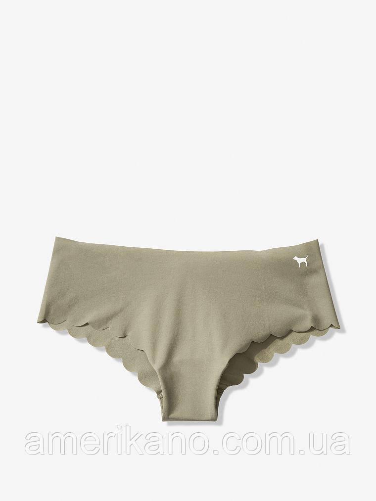 Трусы нижнее белье Victoria's Secret размер S на ОБ 92,5 - 95 см Оригинал с оф. сайта. Бесшовые хаки.