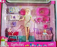 Игровой набор кукла с пупсом,коляской,аксессуарами