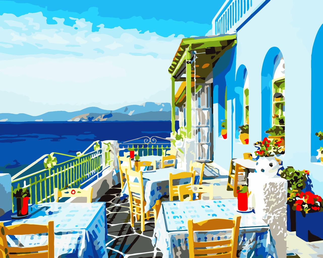 Художественный творческий набор, картина по номерам Солнечная Греция, 50x40 см, «Art Story» (AS0528)