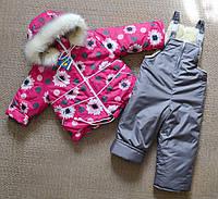 Детский зимний комбинезон на девочку 2 года 104 размер маломерка, фото 1