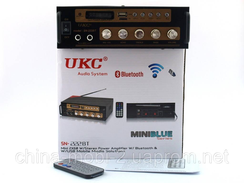 UKC SN222BT 120W  2*60W  усилитель звука bluetooth и караоке