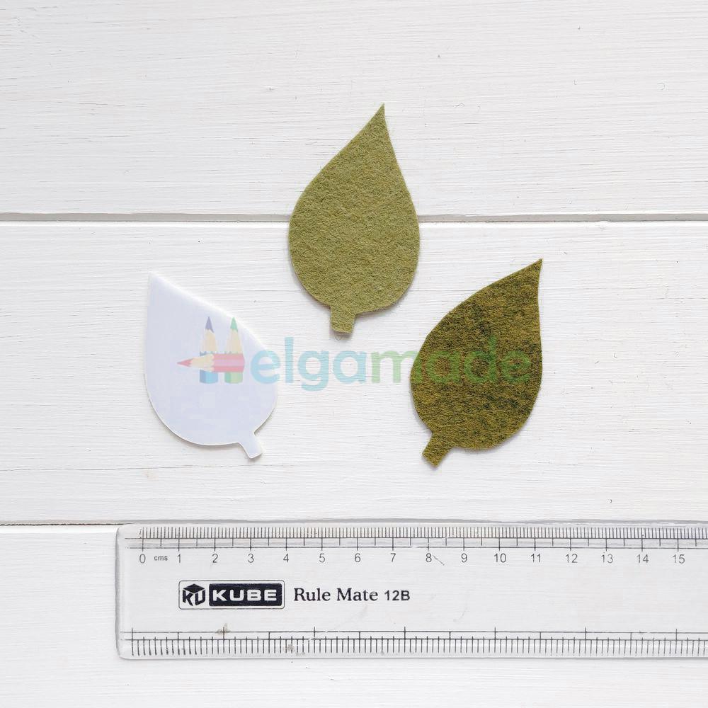 Шаблон пластиковый ЛИСТ, 6 см