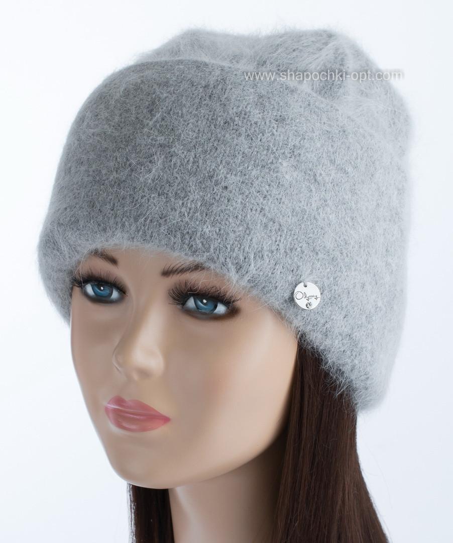 Красивая вязаная шапочка Vanila цвет дымка