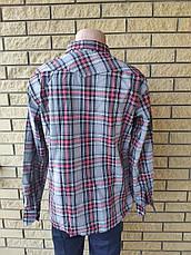 Рубашка мужская коттоновая брендовая высокого качества  реплика TOMMY HILFIGER, Турция, фото 3