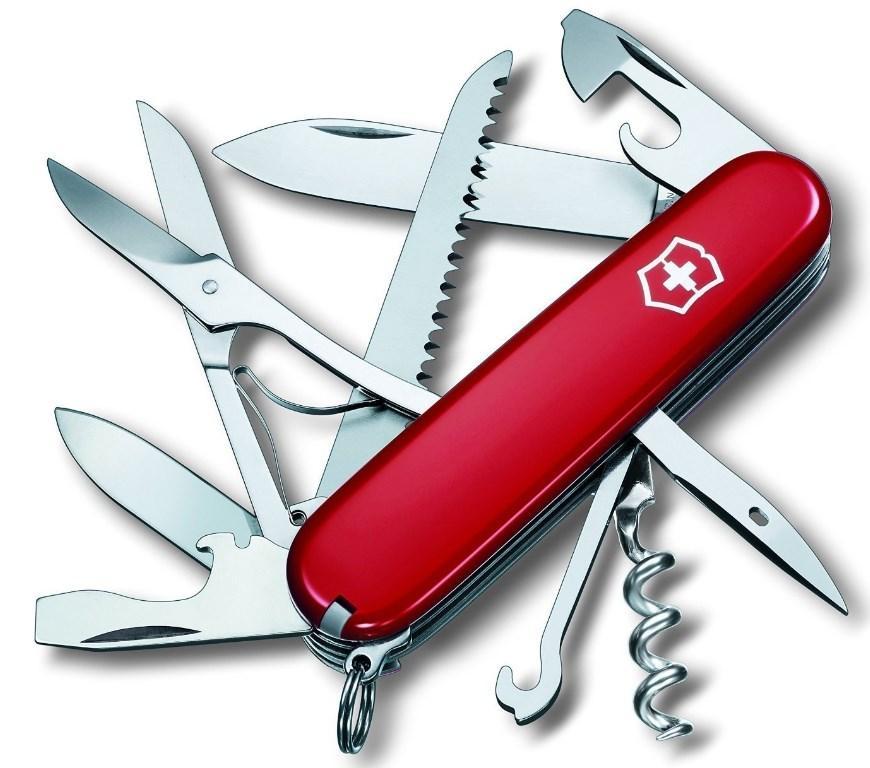 Швейцарский складной нож Victorinox Huntsman красный