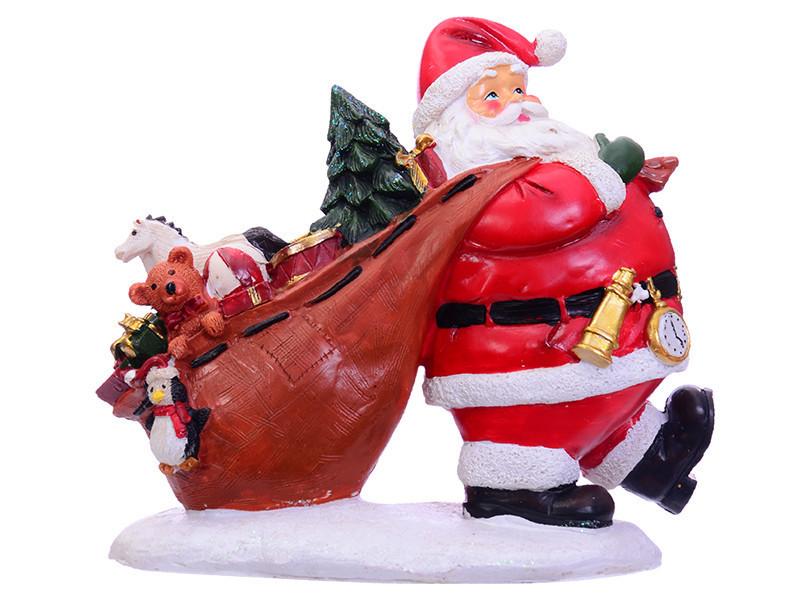 Статуэтка Lefard Санта 21 см 919-284 Дед Мороз новогодняя фигурка Санта Клаус