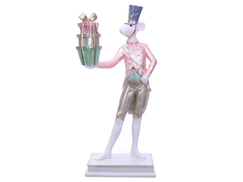 Статуэтка Lefard символ года Мышка с подарками 32 см  919-310 фигурка мышь крыса