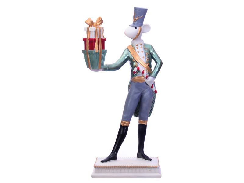 Статуэтка Lefard символ года Мышка с подарками 32 см  919-308 фигурка мышь крыса
