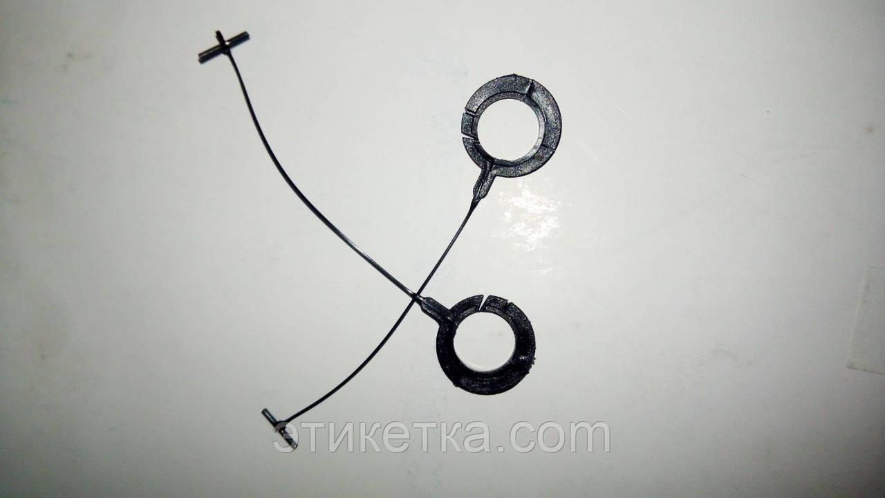 Соединитель пластиковый 50 мм крючок черный (держатели бирок) 45/50 мм для стандартных тканей 5000 шт