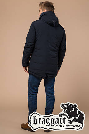 Мужская темно-синяя зимняя куртка (р. 46-56) арт. 28431V, фото 2