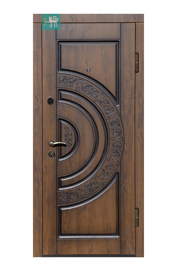 Входные металлические двери МДФ/МДФ  ПВ-82 Дуб темный патина