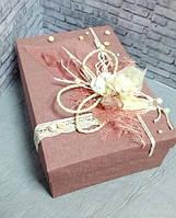 Коробка ручной работы с декором