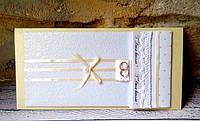 Свадебный конверт+открытка ручной работы