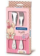 Столовый набор Tramontina, BABY, 3 предмета, розовый, 66973/005 /П2