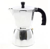 Кофеварка гейзерная Rainbow MR-1667-9 алюминиевая 600мл