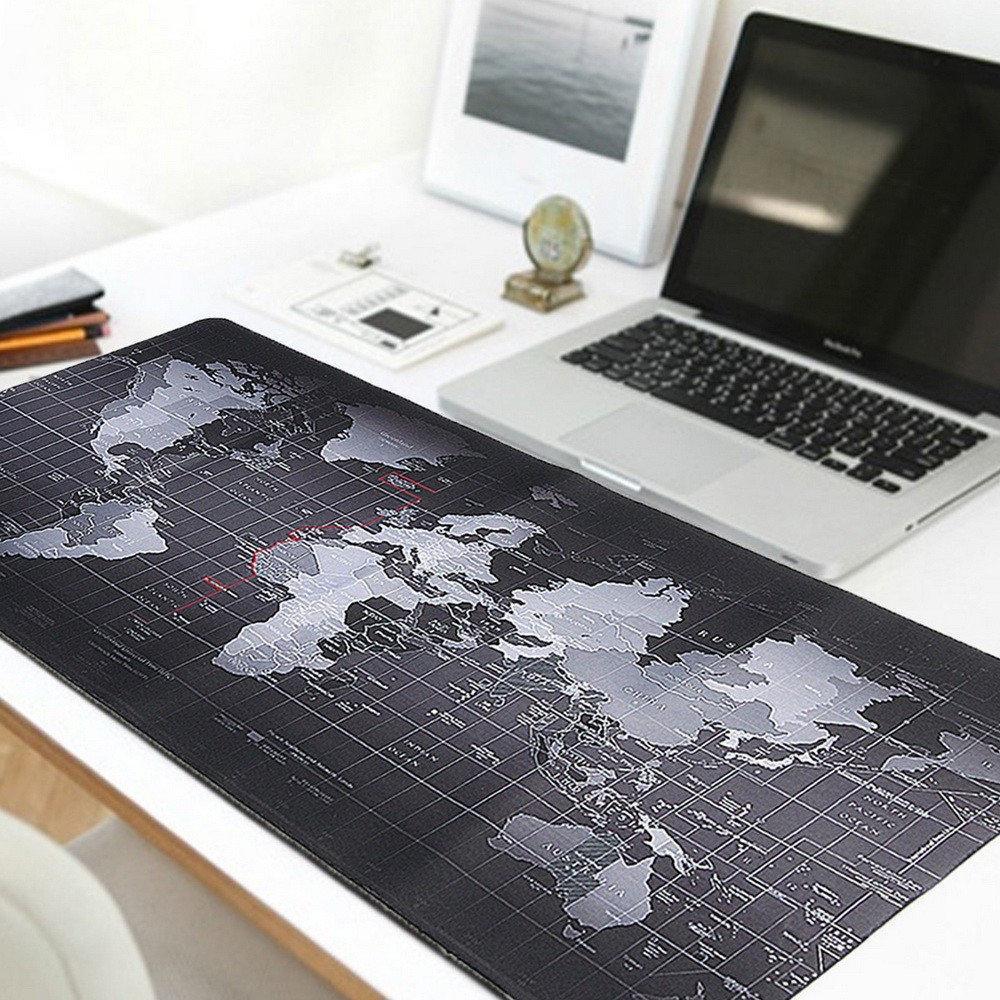 Коврик для мыши большой Black map / Карта мира mousepad 300/800/3mm Геймерский коврик для мыши