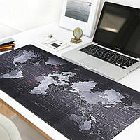 Килимок для миші великий Black map / Карта світу mousepad 300/700/3mm Геймерський килимок для миші