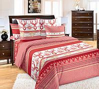 """Комплект постельного белья """"Лапландия, красный"""", перкаль"""
