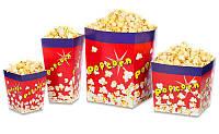 Коробка картонная для попкорна V46 ( 1,5 л)цена указана за 1шт при  покупке  от 300 штук