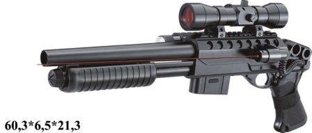 Ружье Double Eagle, с пульками, лазер, прицел, утяжеленный, M47B1