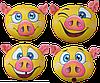 "Смайл ""Свинка"" , 33*33см, ТМ Цацки-Пецки (180721)"