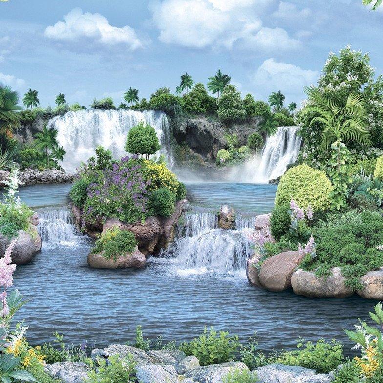 Фотообои, Амазонские водопады, 20 листов, 196х350 см